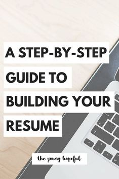 The Step-by-Step Guide to Building Your Resume Here are some step-by-step tips on how to take the most of what you have done in the past four years at university and use it to build a basic but bomb post-college resume. Resume Tips No Experience, Resume Advice, Resume Help, Resume Ideas, Career Advice, Job Resume, Resume Layout, Resume Design, Best Resume Format