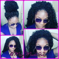 trendy ideas for crochet braids deep twist products Curly Crochet Hair Styles, Crochet Braid Styles, Curly Hair Styles, Natural Hair Styles, Box Braids Hairstyles, My Hairstyle, Braid Patterns, Girls Braids, Kid Braids