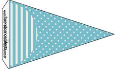 Bandeirinha Sanduiche 5 Chá de Bebê Mustache