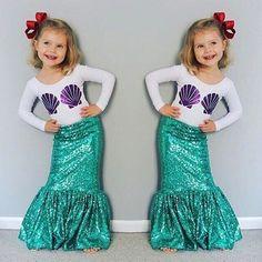 Toddler Mermaid Costumes, Girls Mermaid Costume, Mermaid Tail Costume, Mermaid Birthday Outfit, Mermaid Halloween Costumes, Girls Mermaid Tail, Ariel Costumes, Mermaid Outfit, Mermaid Skirt