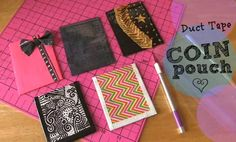 Duct tape coin pouches! Learn how to make your own by watching the SoCraftastic YouTube channel.