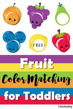 FREE color matching printable activity for toddlers to learn colors, fruit…