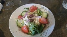 Greek Salad side with Chicken Souvlaki Santa Lucia Pizza Winnipeg  |  4 St Mary's Rd, Winnipeg,