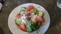 Greek Salad side with Chicken Souvlaki Santa Lucia Pizza Winnipeg  |  4 St Mary's Rd, Winnipeg,