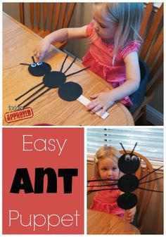 Simple Bug Activities for Kids {Denise Fleming Virtual Book Club for Kids} - Toddler Approved!: Simple Bug Activities for Kids {Denise Fleming Virtual Book Club for Kids} - Insect Activities, Kids Learning Activities, Preschool Activities, Movement Activities, Ant Crafts, Insect Crafts, Daycare Crafts, Preschool Crafts, Crafts For Kids