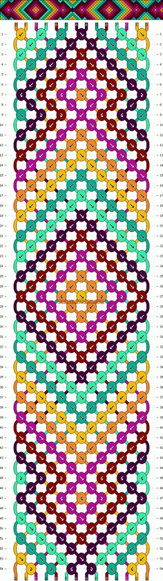 Friendship Bracelet Knot Patterns | Patterns - Normal - Friendship Bracelet Pattern #7531