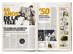 Suplemento 60 años de TV . Diario Clarín on Editorial Design Served