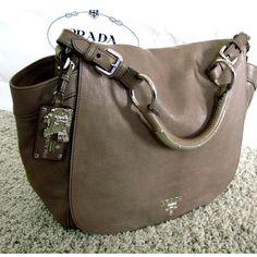 Tip: Prada Shoulder Bag (Light Grey)