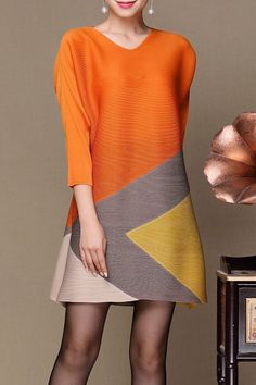 Fashion retailer with hundreds of famous independent clothing designer, connecting your fashion needs with the designers. Modest Fashion, Fashion Dresses, Casual Dresses, Short Dresses, Colorblock Dress, Chic Dress, Fashion Fabric, Colorful Fashion, Cotton Dresses