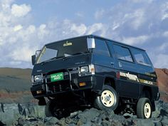 1985 Mitsubishi Delica Mad 4 Wheels: here you'll find an awesome quantity of free hi-res cars pictures. 4x4 Camper Van, 4x4 Van, Popup Camper, Mitsubishi Motors, Mitsubishi Pajero, Mitsubishi Delica, Toyota Van, Overland Truck, Cool Vans