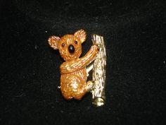Vintage Koala Bear Gold Tone Brooch by vintagelapidarydream, $5.00