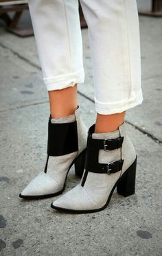 Cool ankle boots! Fashion shoes!