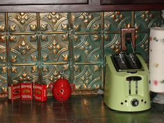 03 Backsplash Copper Patina Kitchenlink To Image Tin Tile