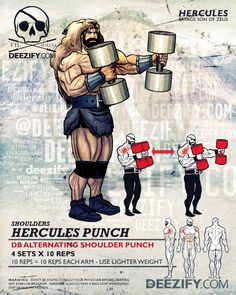 shoulder exercise: hercules punch