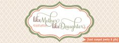 Precisely Mine: Like Mother, Like Daughter Hand Stamped Jewelry & ...