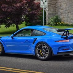 "A paint to sample Voodoo Blue (voodooblau; non-metallic UNI; Z12) 991 GT3 RS, seen by @carsofmass in Greenwich last year. Voodoo Blue has become one of the most popular choices for PTS. The earliest car I've seen sporting it is a 997 GT3 RS 4.0. Some may not know that ""Voodoo Blue"" was the launch color for the revived Toyota FJ Cruiser in 2006, years before Voodoo Blue even existed in the Porsche realms. However, it has been confirmed that Toyota's Voodoo Blue and Porsche's Voodoo Blue are…"