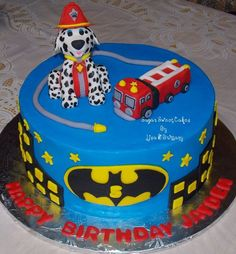 PAW Patrol Birthday Cake   Paw Patrol & Batman