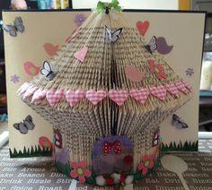 The fairy house book sculpture Book Sculpture, Book Folding, Book Art, Origami, My Books, Fairy, Paper, House, Home