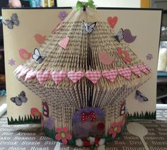 The fairy house book sculpture