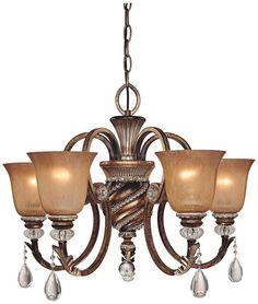Antique Glass Bronze Chandelier > $392.59 Aston Court Crystal, Five Lights - http://chandeliertop.com/antique-glass-bronze-chandelier-392-59-aston-court-crystal-five-lights/