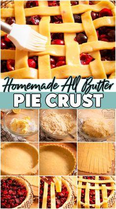 Healthy Pie Recipes, Recipes Using Fruit, Peach Pie Recipes, Easy Homemade Recipes, Tart Recipes, Best Dessert Recipes, Easy Desserts, Baking Recipes, Delicious Desserts