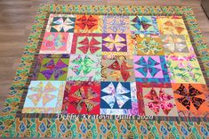 "62"" x 72"". Block Size: 10"". With 2 sides of strips, 12"" x 12"". Staggered block assembly adds interest. Winding Ways Quilt, Batik Quilts, Quilt Sizes, Green Turquoise, Quilt Making, Quilt Patterns, Fabric, Projects, Color"