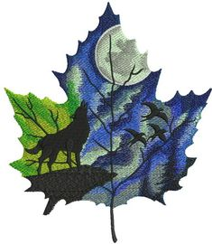 Autumn leaf maple leaf machine embroidery design from Season collection. Sewing Machine Embroidery, Learn Embroidery, Hand Embroidery, Embroidery Ideas, Fall Leaves Drawing, Leaf Drawing, Wolf Painting, Feather Painting, Painted Leaves