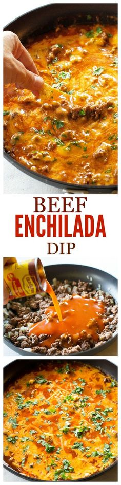 This Beef Enchilada Dip is so easy and feeds a crowd! My motto for the New Year is K.I.S.S. If you don't know what K.I.S.S.stands for it means Keep It Simple Stupid. When I start getting ideas for re