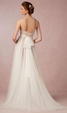 A gorgeous wedding gown from BHLDN