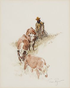Hill Country  |  pencil and watercolor on paper  |  10 x 8 inches  |  $3,850 Re-framed and matted with museum glass
