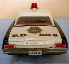 Vintage Tin New Buick Police Car w/ Box Asakusa Toy
