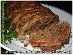 Country Meatloaf (ground beef, pork & veal)