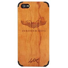 Pilot Wings Engraved Wood iPhone 5/5S Case $29.95