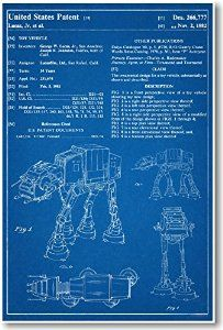 Star Wars AT-AT Patent - NEW Famous Invention Blueprint Poster from PosterEnvy Disc: Affiliate Link