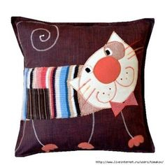 love this cat cushion pillow Cute Pillows, Diy Pillows, Floor Pillows, Decorative Pillows, Throw Pillows, Cat Cushion, Cushion Covers, Pillow Covers, Cushion Pillow