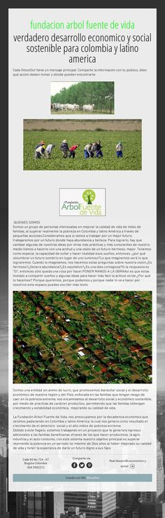 fundacion arbol fuente de vidaverdadero desarrollo economico y social sostenible para colombia y latino america