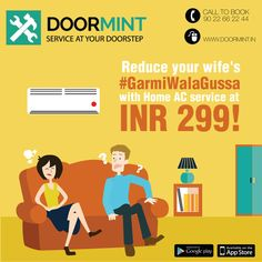 AC service at just INR 299! Get your AC dry/ wet service and beat the heat in peace! www.doormint.in  Wife's anger is now easier to handle!  #wife #anger #heat #summer #beattheheat #ac #airconditioning