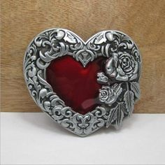 Western Fashion Peach Heart Design Cowboy Style Zinc Alloy Buckle For Men  #HY #punkcowboyhiphopcartooncausal