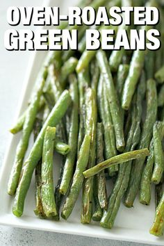 Oven Roasted Green Beans Recipe Six Sisters Stuff OvenRoasted Green Beans make the perfect side dish for any meal Drizzled in olive oil and simply seasoned with salt and. Roasted Fresh Green Beans, Fresh Green Bean Recipes, Cooking Fresh Green Beans, Recipe For Roasted Green Beans, Simple Green Bean Recipe, Healthy Green Beans, Side Dish Recipes, Vegetable Recipes, Vegetable Ideas