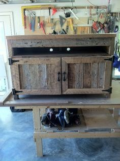 Old Barn Wood Home Decor | Another TV Stand - Old barn Wood | For the Home                                                                                                                               (Diy Furniture Tv Stand)