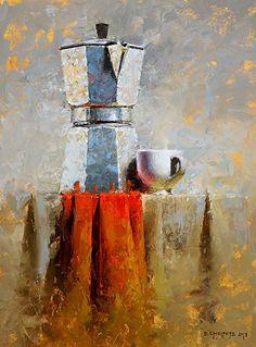 Brew by David Cheifetz Oil ~ 12 x 9