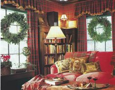 Love this room by Betsy Speert...I don't care how old it is...I love cozying up here.