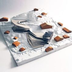 A youth hostel roof doubles as a ski slope over a busy road in the Swiss alps. Conceptual Model Architecture, Architecture Concept Drawings, Roof Architecture, Architecture Student, Architecture Portfolio, Landscaping A Slope, Arch Model, Ski Slopes, Hostel
