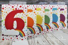 born2stamp STAMPIN' UP! Regenbogen-Party Einladungen