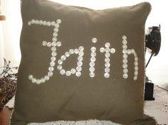 button word pillow