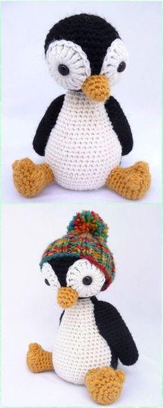 Crochet Amigurumi Penguin Free Pattern - Amigurumi Crochet Sea Creature Animal Toy Free Patterns #CrochetProjects