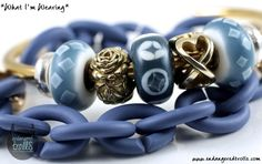 X by Trollbeads Limited Edition Ocean Blue Links