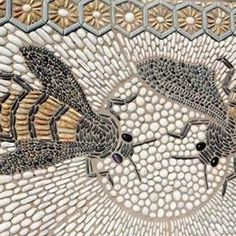 Bee mosaic-- I love the symbol of the bee....industrious, inquisitive, worker.