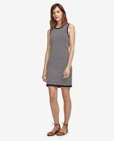 Deco Jacquard Shift Dress | Ann Taylor
