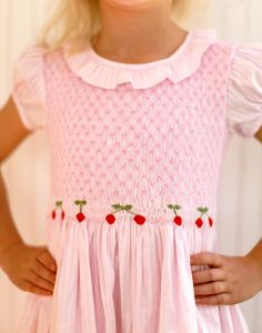 Kayce Hughes | Pears and Bears | Womens Clothing | Kids Clothing / Store / smocked cherry dress